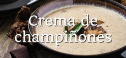 Crema de champiñones thermomix